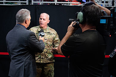 TACOM Chief of Staff speaks to the press
